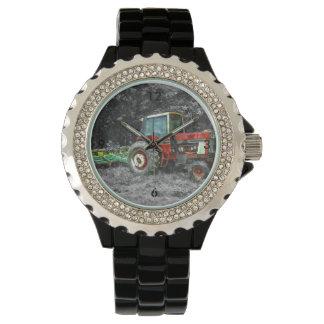 Old International Tractor Painterly Wristwatch