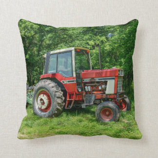 Old International Tractor Throw Pillow