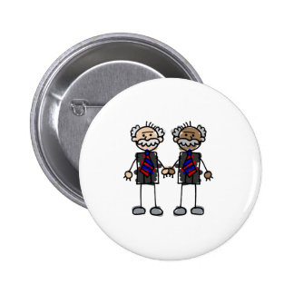 Old Interracial Couple Pinback Button