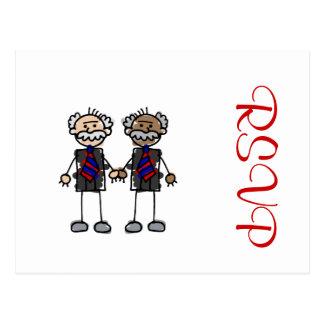 Old Interracial Couple Postcard