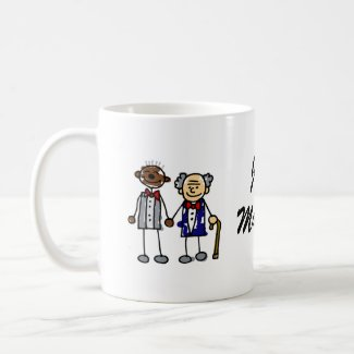 Old Interracial Gay Couple mug