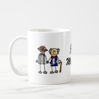 Old Interracial Gay Couple Classic White Coffee Mug