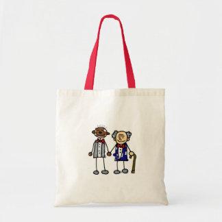 Old Interracial Gay Couple Tote Bag