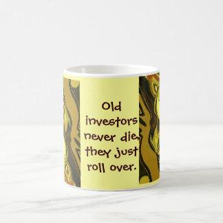 old investors never die coffee mug