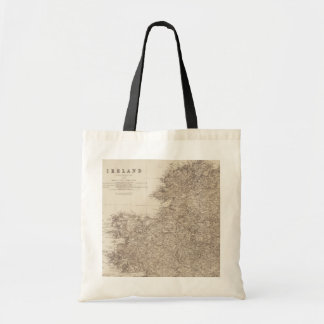 Old Ireland Map Tote Bag