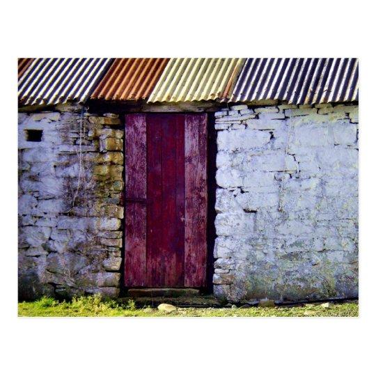 Old Irish Barn Postcard