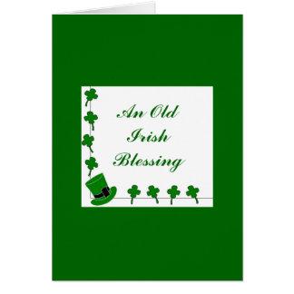 Old Irish Blessing Card-2 Greeting Card