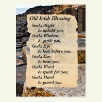 Old Irish Blessing, Giants Causeway Ireland Postcard