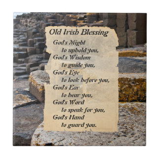 Old Irish Blessing Giants Causeway Ireland Tile