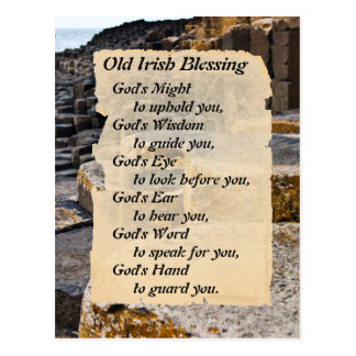 Old Irish Blessing Giants Causeway Postcard