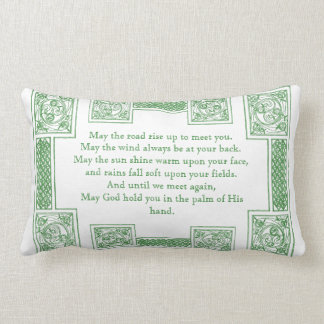 Old Irish Blessing in Celtic Knots Lumbar Pillow