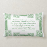 Old Irish Blessing in Celtic Knots Pillow