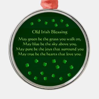 Old Irish Blessing Metal Ornament
