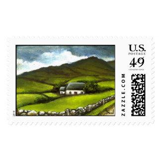 Old Irish cottage Postage