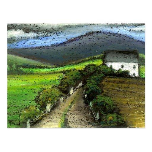 Old Irish farmhouse Postcard