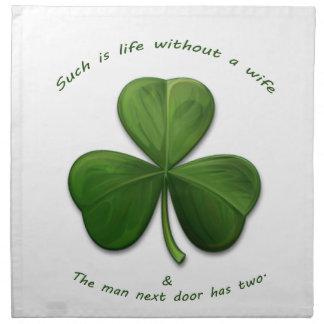 Old Irish Sayings Cloth Napkin
