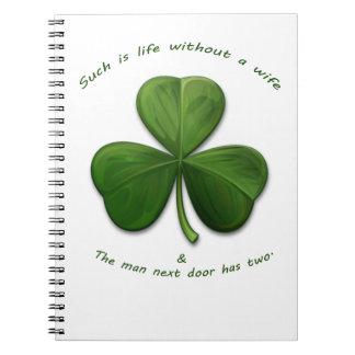 Old Irish Sayings Notebook