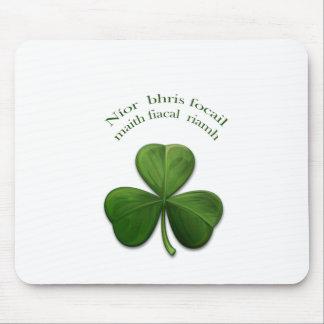 Old Irish sayings on Irish Design Products Mouse Pad