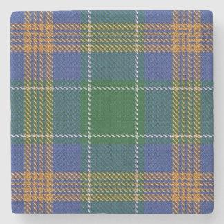 Old Irish Tavern Clan McAuliffe MacAuliffe Tartan Stone Coaster