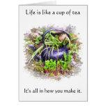 Old Irish Teapot Proverb Card
