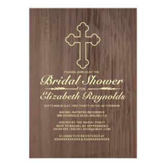Old Iron Cross Bridal Shower Invitations Custom Invites