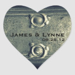 Old Iron Detail Heart Sticker
