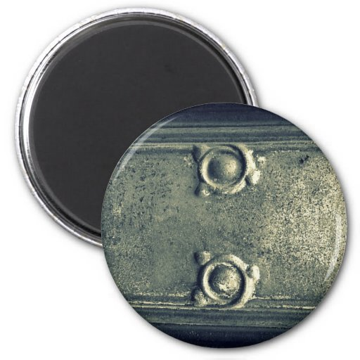 Old Iron Detail Magnet