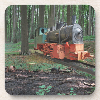 Old Iron I - old person steam engine Beverage Coaster