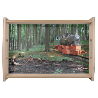 Old Iron I - steam engine Serving Tray