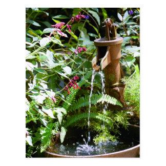 Old Iron Pump Fountain Postcard