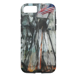 Old Ironsides Boston Harbor Abstract Impressionism iPhone 8/7 Case