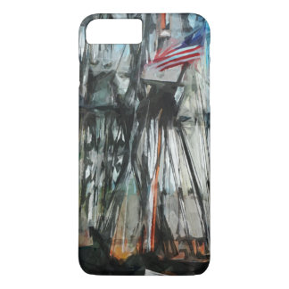 Old Ironsides Boston Harbor Abstract Impressionism iPhone 8 Plus/7 Plus Case