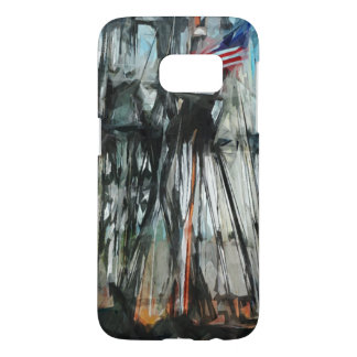 Old Ironsides Boston Harbor Abstract Impressionism Samsung Galaxy S7 Case