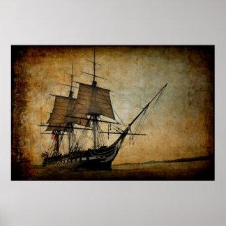 Old Ironsides War Ship Poster