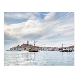 Old Istrian town of Rovinj or Rovigno in Croatia Postcard