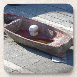 Old italian abandoned boat coaster