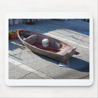 Old italian abandoned boat mouse pad