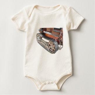 Old italian crawler tractor baby bodysuit