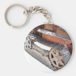 Old italian crawler tractor key chain