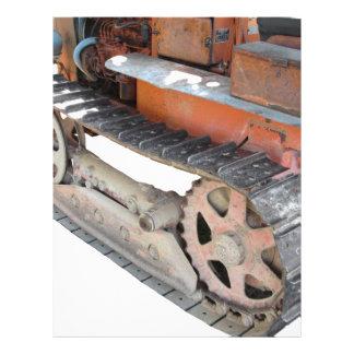 Old italian crawler tractor letterhead