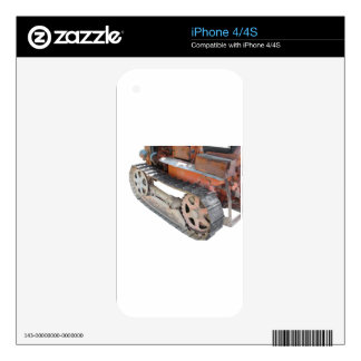 Old italian crawler tractor skins for iPhone 4