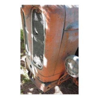 Old italian crawler tractor stationery