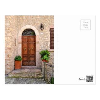 Old Italian doorstep - postcard