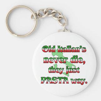 Old Italians Never Die Basic Round Button Keychain