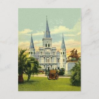 Old Jackson Square postcard