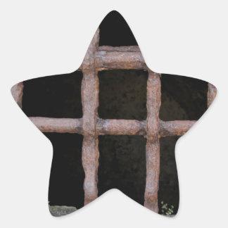 old jailhouse window star sticker