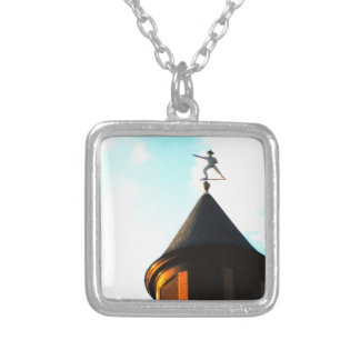 Old Jake Weather Vane Silver Plated Necklace