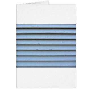 Old jalousie window with wooden slats gray painted card