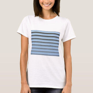 Old jalousie window with wooden slats gray painted T-Shirt