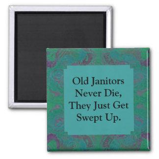 old janitors joke 2 inch square magnet